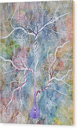 Lipid Branches Wood Print by Sumit Mehndiratta
