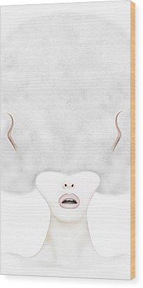 Listen  Wood Print by Yosi Cupano