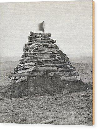 Little Bighorn Monument Wood Print by Granger