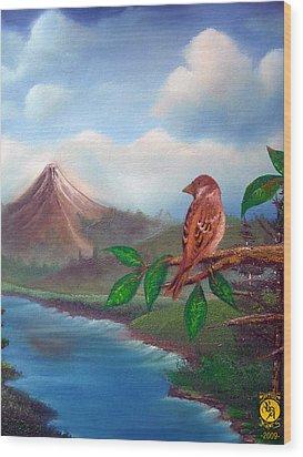 Little Bird Wood Print by Richard Bantigue