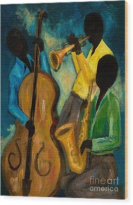 Little Jazz Trio IIi Wood Print by Larry Martin