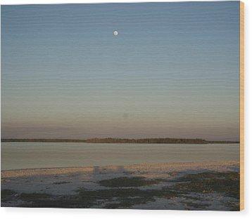 Little Moon Wood Print by Robert Nickologianis
