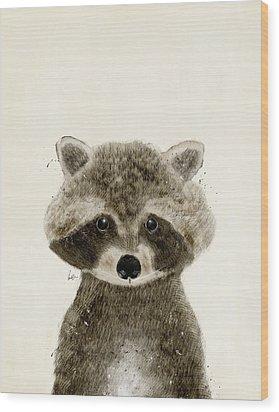 Little Raccoon Wood Print by Bri B