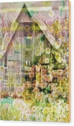 Little Witch Cottage Wood Print by PainterArtist FIN