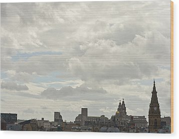 Liverpool Skyline Wood Print by Georgia Fowler