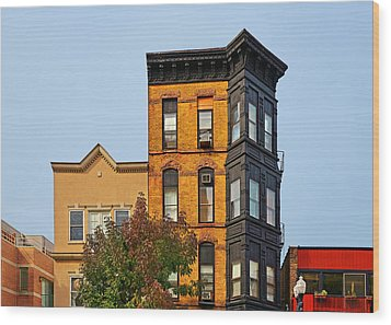 Living In Chicago Lincoln Park Wood Print by Christine Till