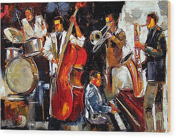 Living Jazz Wood Print by Debra Hurd