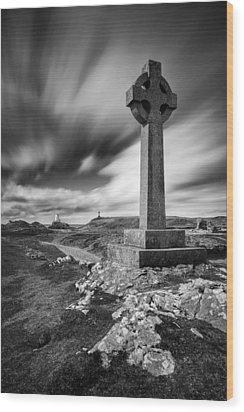 Llanddwyn Island Wood Print by Dave Bowman