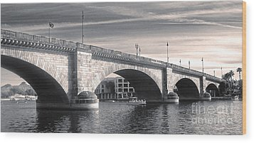 London Bridge Panorama Wood Print by Gregory Dyer