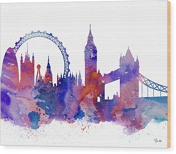 London Wood Print by Luke and Slavi