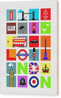 London Wood Print by Mark Rogan