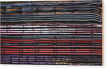 London Underground Cables Wood Print by Mark Rogan