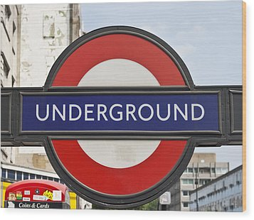 London Underground Wood Print by Georgia Fowler