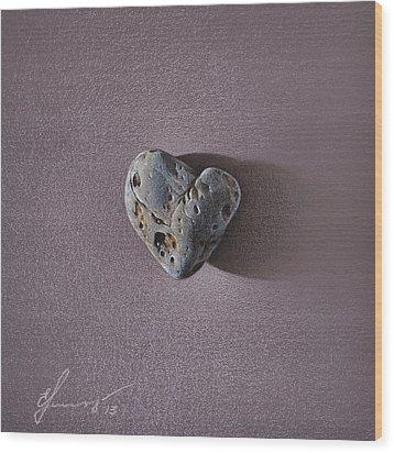 Lonely Heart Wood Print by Elena Kolotusha