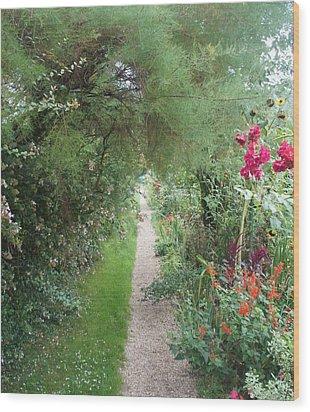 Long Way  Wood Print by Kristine Bogdanovich