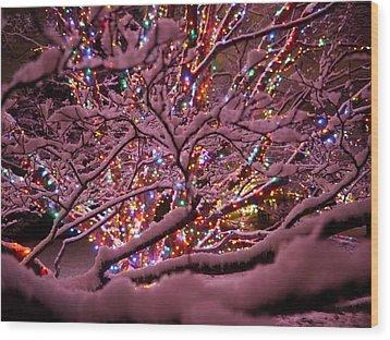 Longwood Lights 1 Wood Print by Richard Reeve