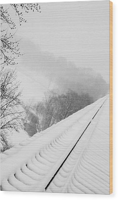 Looking Over Wood Print by Cheryl Helms