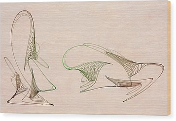 Loops Wood Print by David Ridley