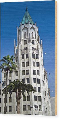 Los Angeles - Hollywood And Highland Wood Print by Gregory Dyer
