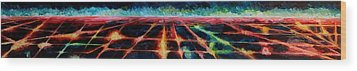 Los Angeles At Night From Mountains Wood Print by M Bleichner