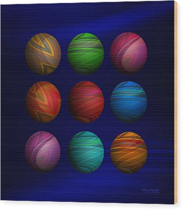 Lost My Marbles Wood Print by Mary Machare