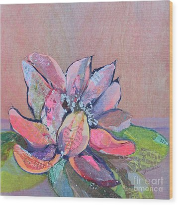 Lotus Iv Wood Print by Shadia Derbyshire