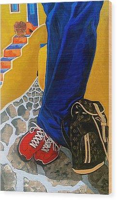 Louie Wood Print by Chris Eckley