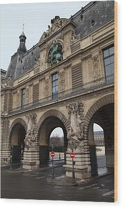 Louvre - Paris France - 011334 Wood Print by DC Photographer