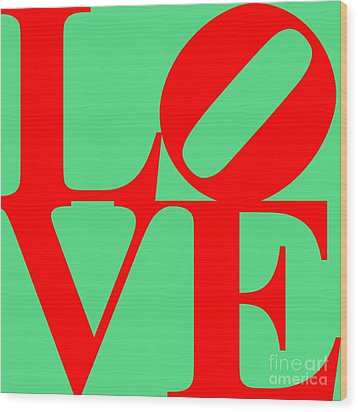 Love 20130707 Red Green Wood Print by Wingsdomain Art and Photography