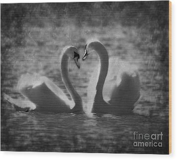 Love Is.. Wood Print by Nina Stavlund