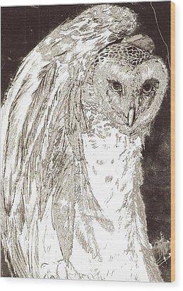 Love Owl Wood Print by George Harrison