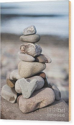 Love Stack Wood Print by Anne Gilbert