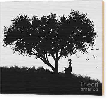Love Stands Waiting Wood Print by Robert Foster