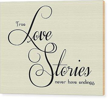 Love Stories Wood Print by Jaime Friedman
