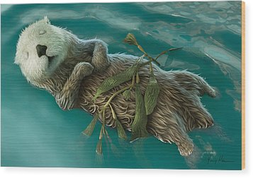 Lovely Day For A Nap Wood Print by Gary Hanna