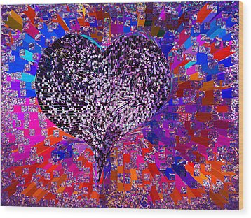 Love's Abyss And All About This Wood Print by Kenneth James