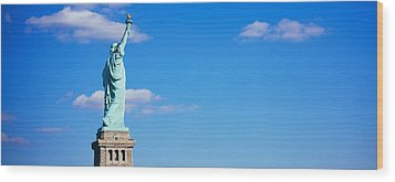 Low Angle View Of A Statue, Statue Wood Print by Panoramic Images