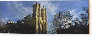 Low Angle View Of An Abbey, Westminster Wood Print by Panoramic Images