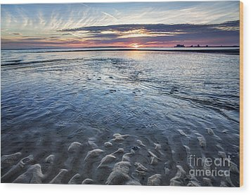Low Tide East Beach Wood Print by Joan McCool