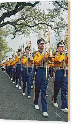 Lsu Marching Band 3 Wood Print by Steve Harrington