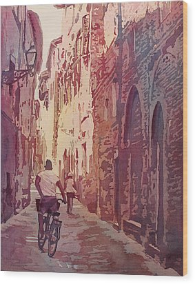 Lucca Wood Print by Jenny Armitage