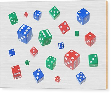 Lucky Dice Wood Print by Jim Hughes