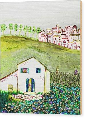L'ultima Fatica Wood Print by Loredana Messina