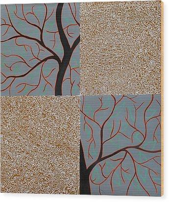 Luminous Tree Of Barsoom Wood Print by Sumit Mehndiratta