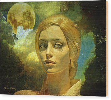 Luna In The Garden Of Evil Wood Print by Chuck Staley