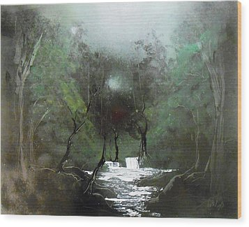 Lush Forest Wood Print by Aaron Beeston