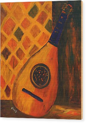 Lute By The Window  Wood Print by Oscar Penalber