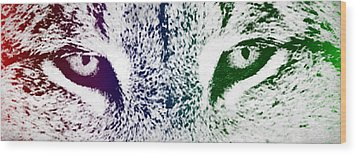 Lynx Eyes Wood Print by Aged Pixel