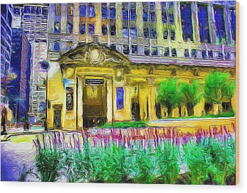 Lyric Opera House Of Chicago Wood Print by Ely Arsha