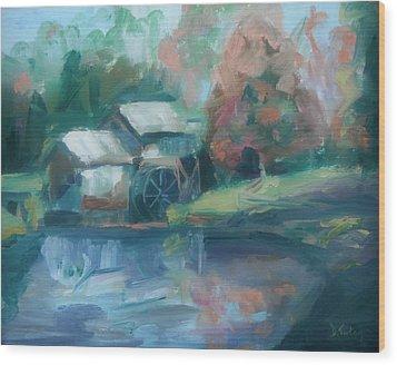 Mabry Mill Wood Print by Donna Tuten